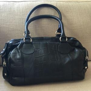 Michael Rome Geniune Leather Handbag Black